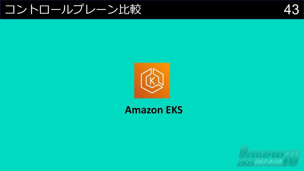 43 コントロールプレーン⽐較 Amazon EKS