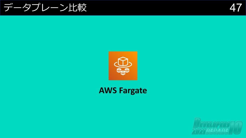 47 データプレーン⽐較 AWS Fargate