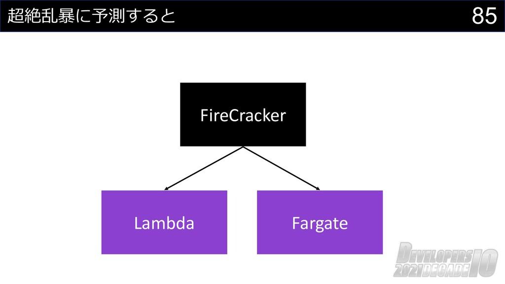 85 超絶乱暴に予測すると FireCracker Lambda Fargate