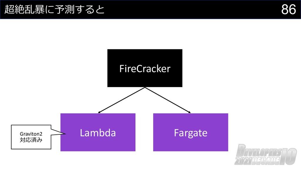 86 超絶乱暴に予測すると FireCracker Lambda Fargate Gravit...