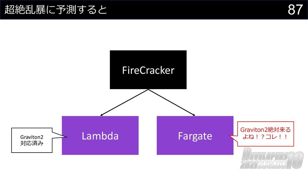 87 超絶乱暴に予測すると FireCracker Lambda Fargate Gravit...