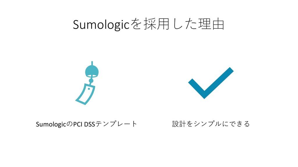Sumologicを採⽤した理由 SumologicのPCI DSSテンプレート 設計をシンプ...