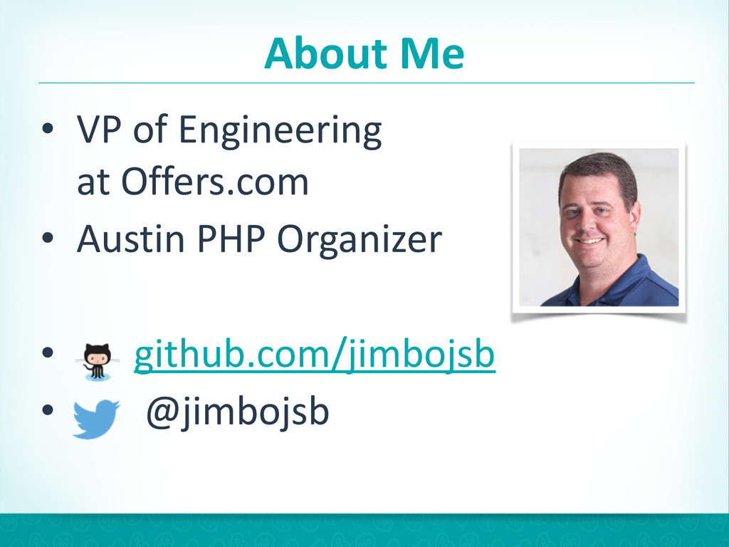 About Me • VP of Engineering at Of...