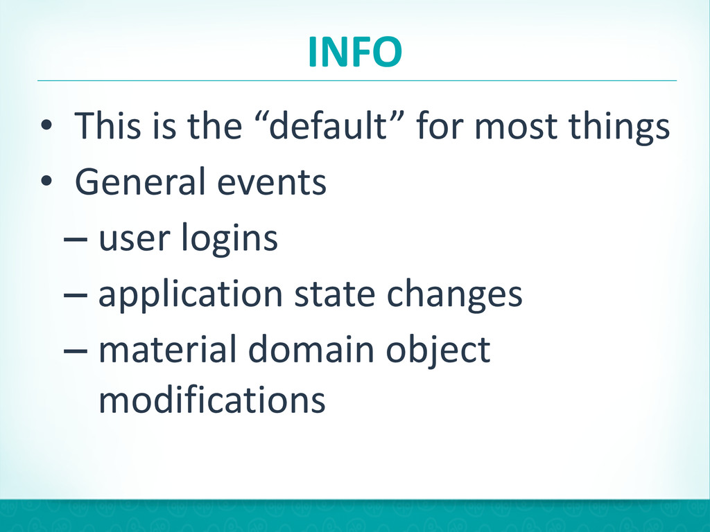 """INFO • This is the """"default"""" for ..."""