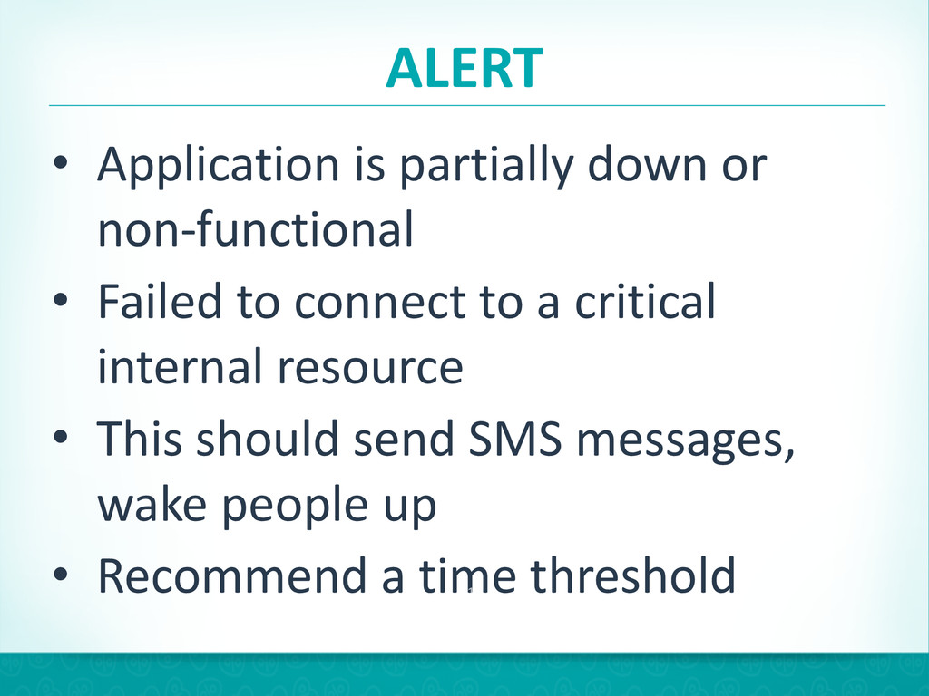 ALERT • Application is partially down...