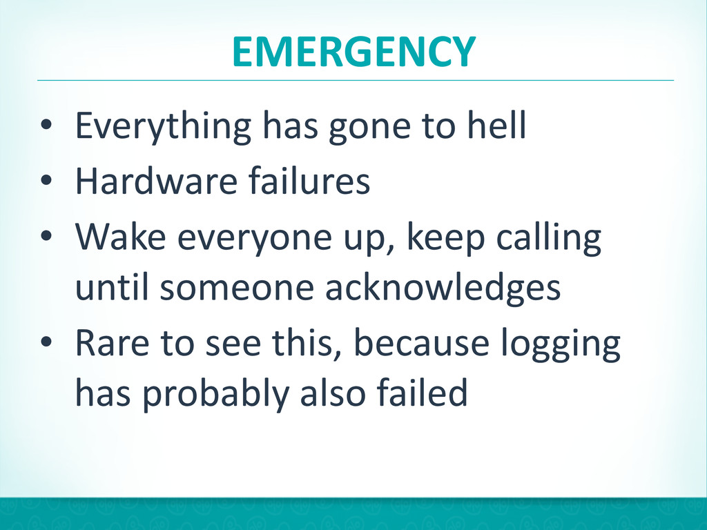 EMERGENCY • Everything has gone to ...