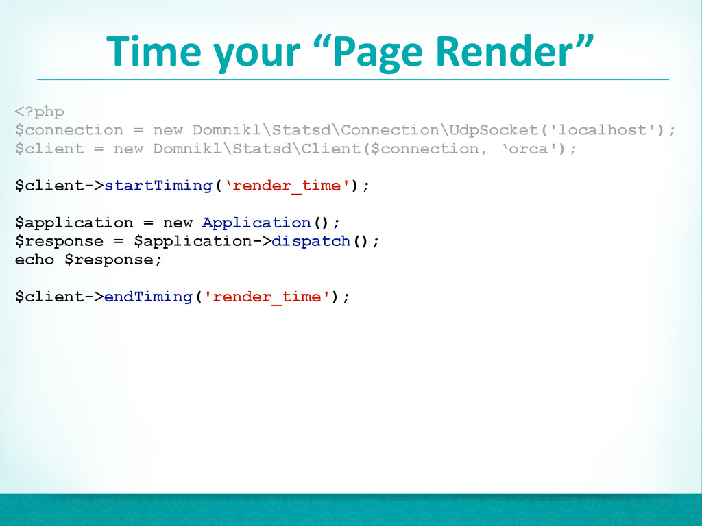 """Time your """"Page Render"""" 43 <?php $conn..."""