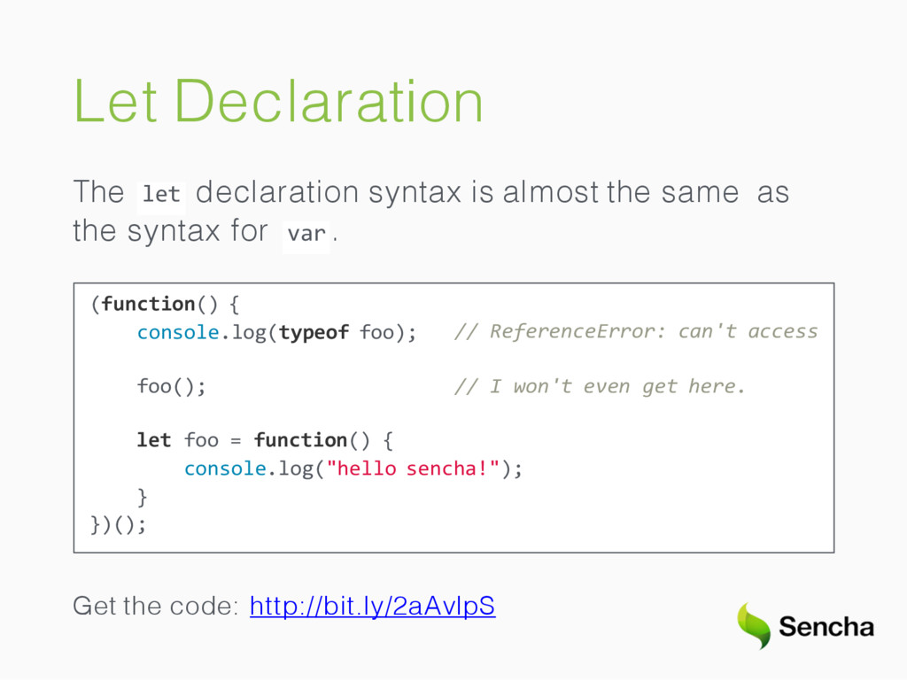 Let Declaration The let declaration syntax is a...