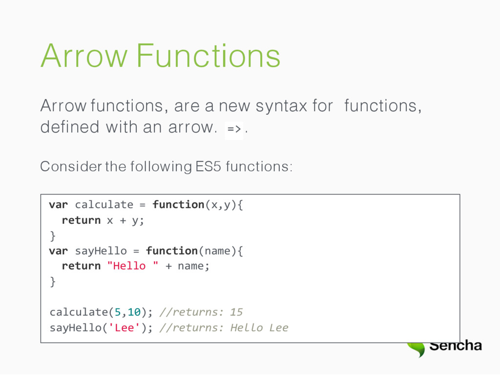Arrow Functions Arrow functions, are a new synt...