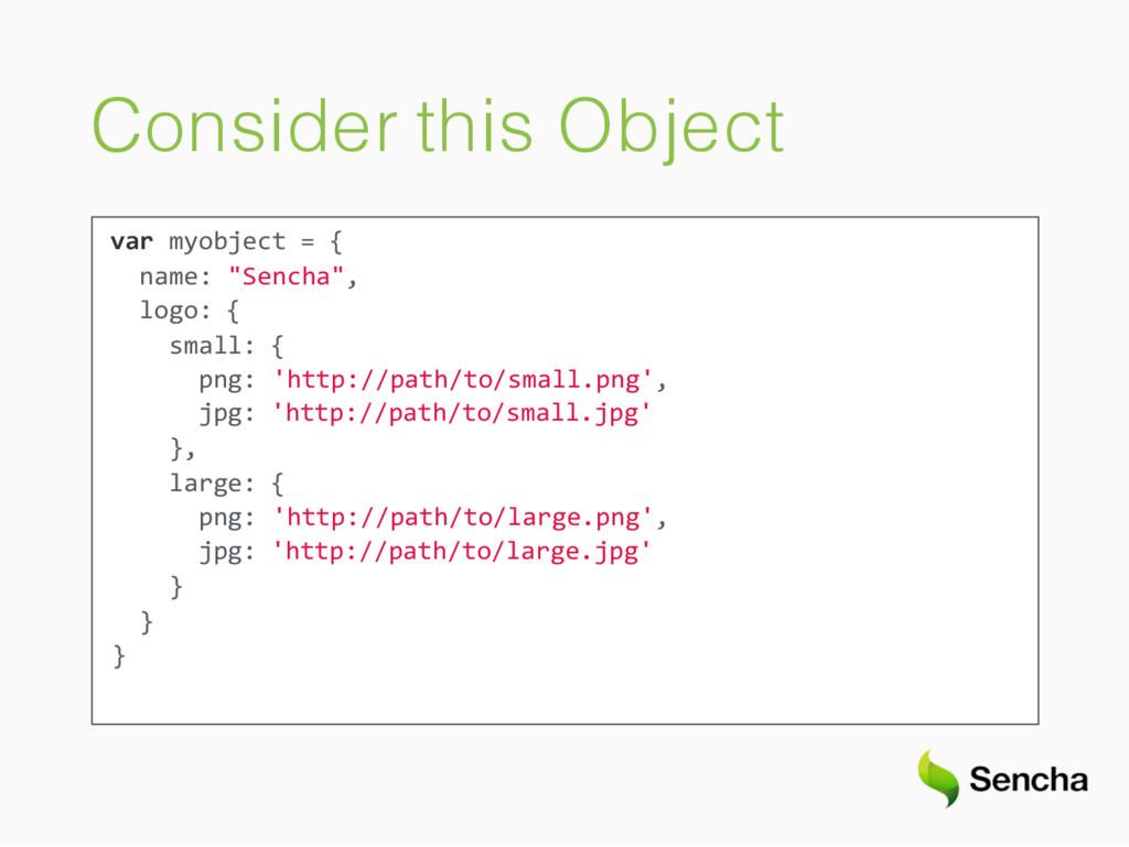 "Consider this Object var myobject = { name: ""Se..."