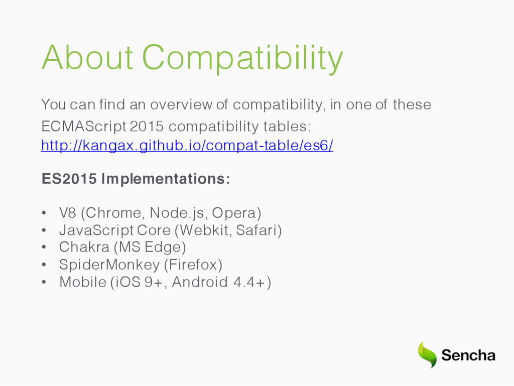About Compatibility You can find an overview of ...