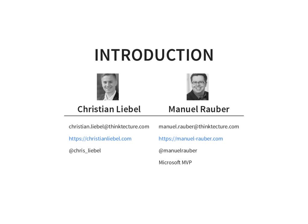 INTRODUCTION Christian Liebel Manuel Rauber chr...