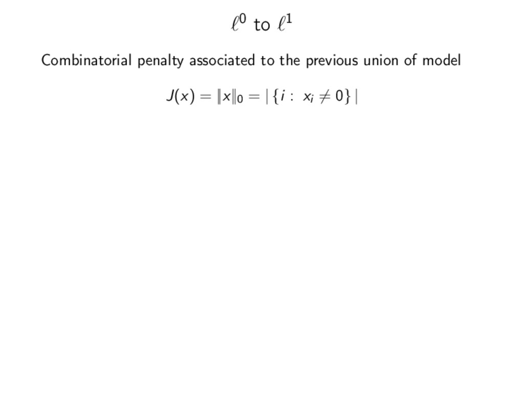 0 to 1 Combinatorial penalty associated to the ...