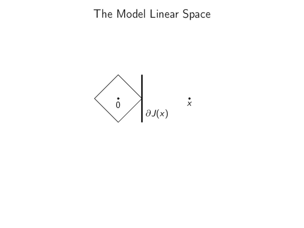The Model Linear Space 0 x ∂J(x)