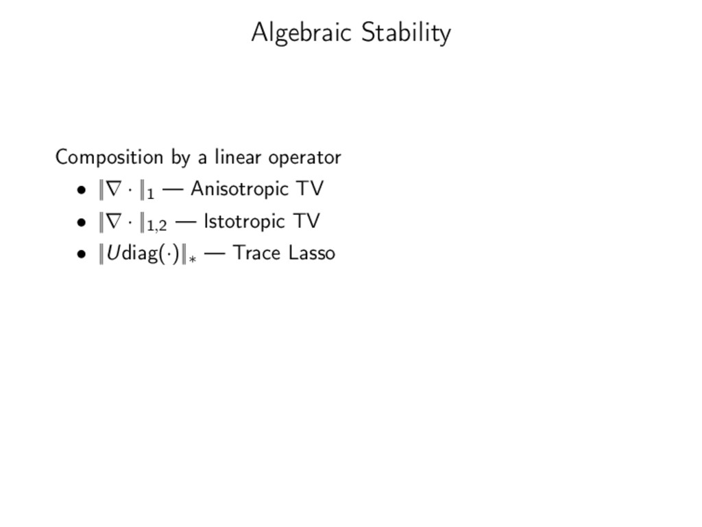 Algebraic Stability Composition by a linear ope...