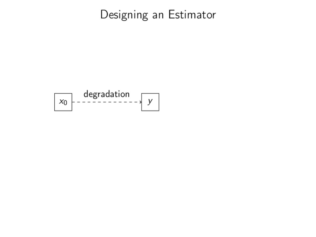 Designing an Estimator x0 y degradation