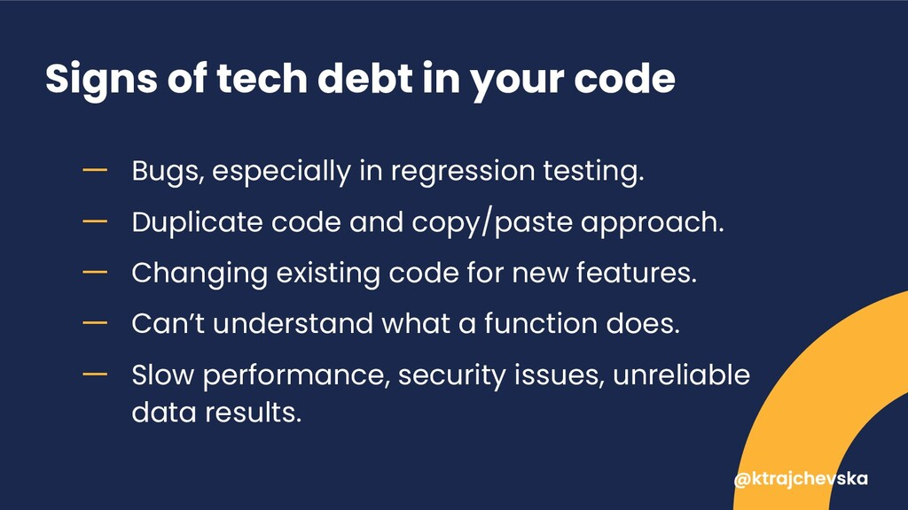 Signs of tech debt in your code ー Bugs, especia...