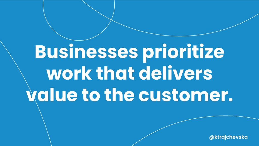 Businesses prioritize work that delivers value ...