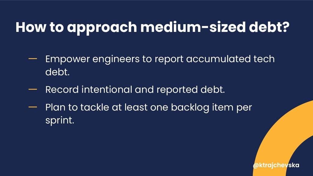 How to approach medium-sized debt? ー Empower en...