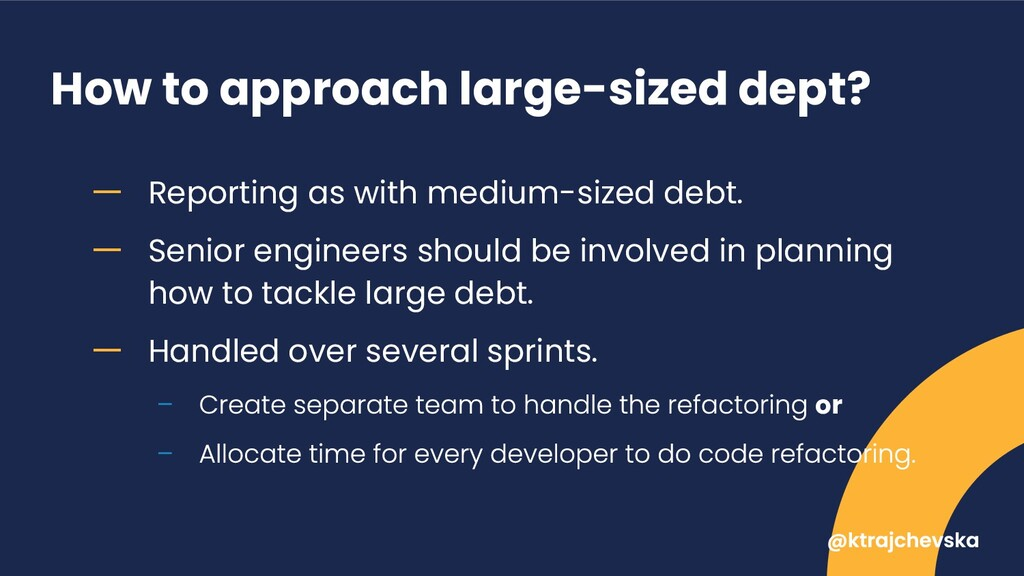 How to approach large-sized dept? ー Reporting a...