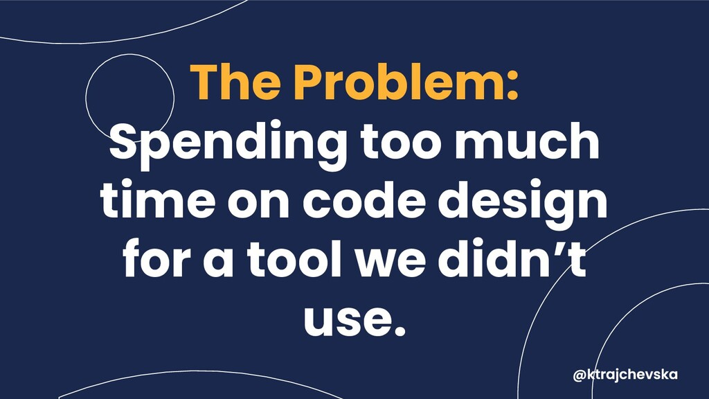 The Problem: Spending too much time on code des...