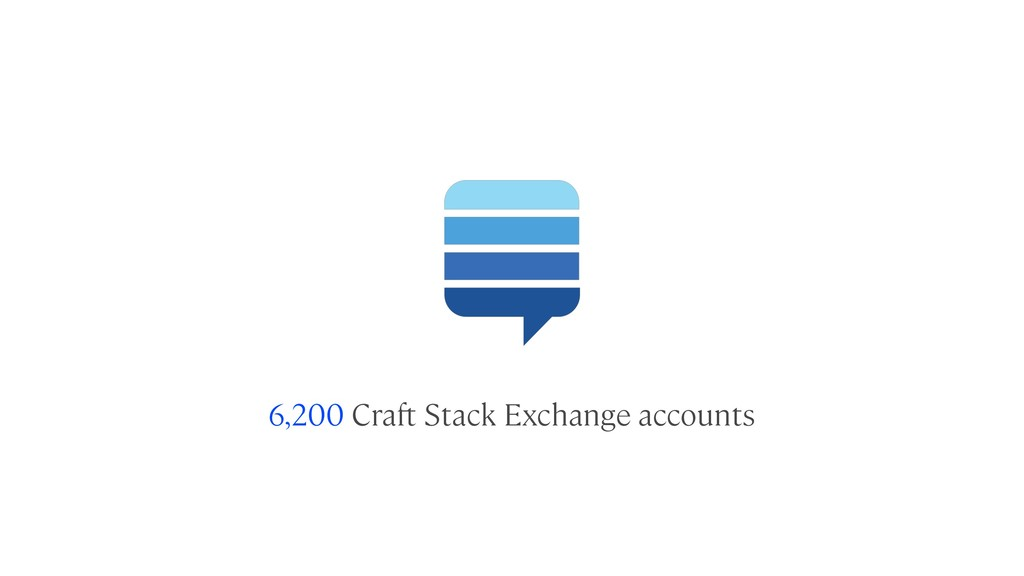 6,200 Craft Stack Exchange accounts