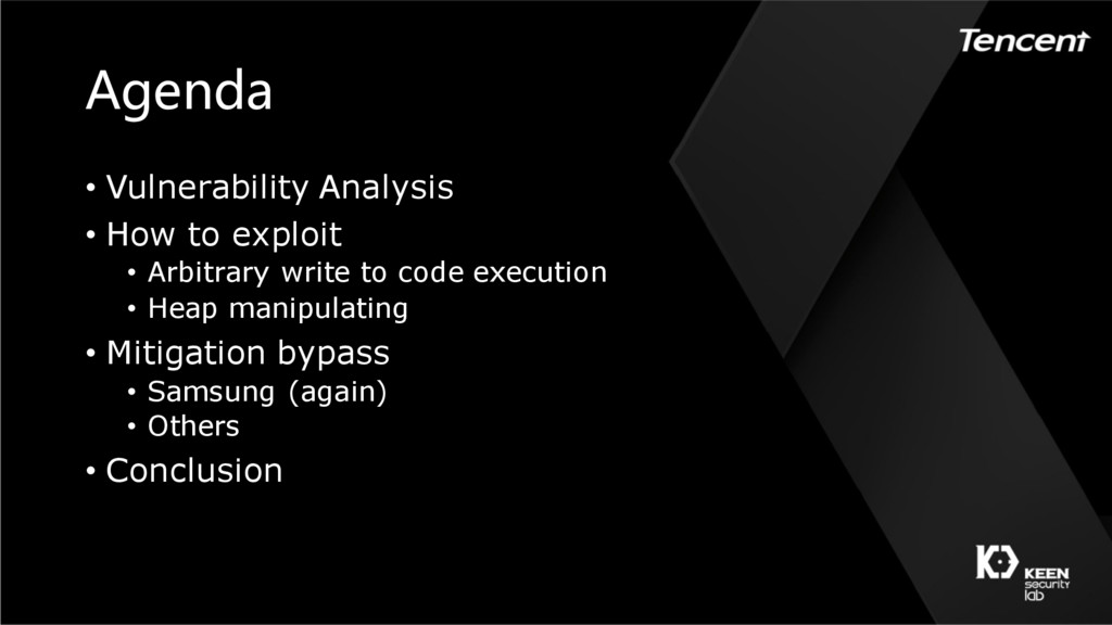 Agenda • Vulnerability Analysis • How to exploi...
