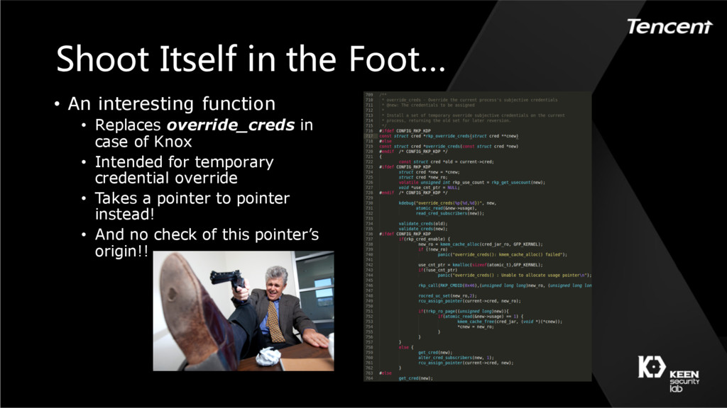 Shoot Itself in the Foot… • An interesting func...