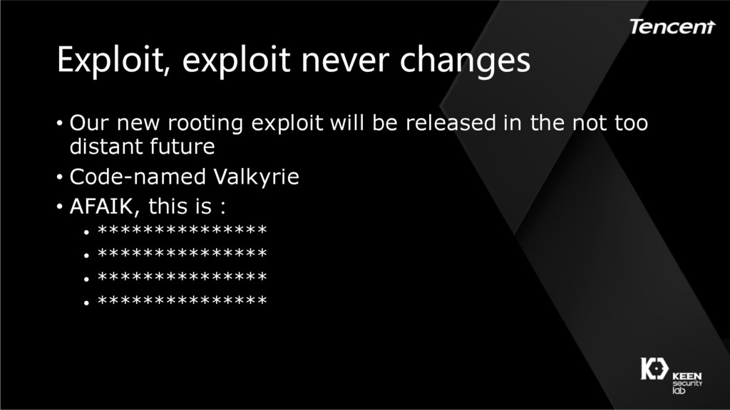 Exploit, exploit never changes • Our new rootin...