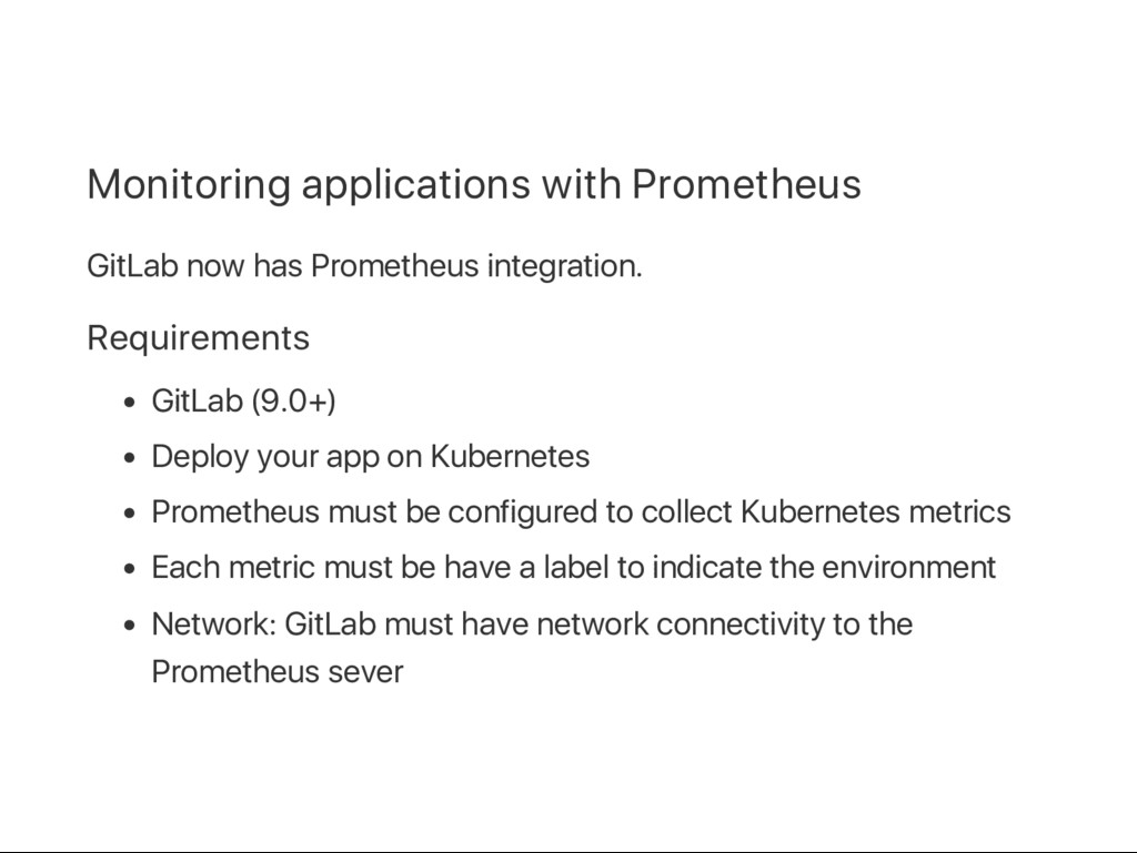 Monitoring applications with Prometheus GitLab ...