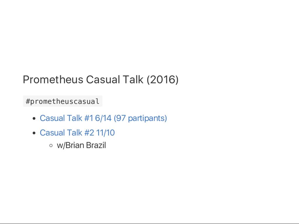Prometheus Casual Talk (2016) # p r o m e t h e...