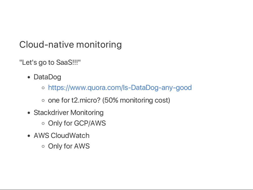 """Cloud‑native monitoring """"Let's go to SaaS!!!"""" D..."""