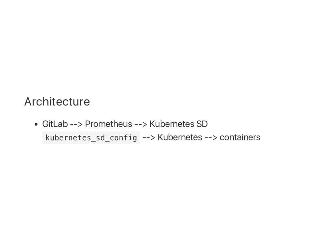 Architecture GitLab ‑‑> Prometheus ‑‑> Kubernet...