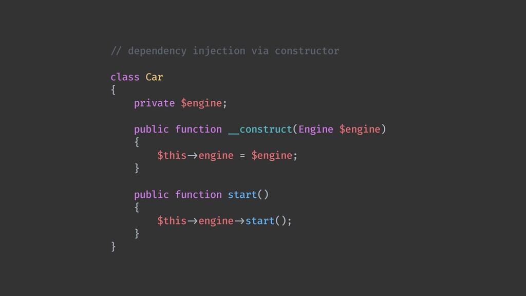 / / dependency injection via constructor  clas...