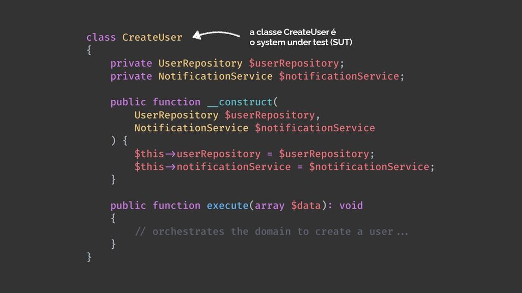 class CreateUser   {   private UserRepository $...