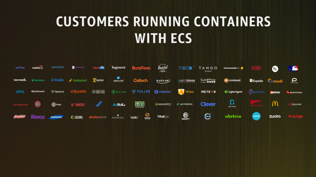 CUSTOMERS RUNNING CONTAINERS WITH ECS