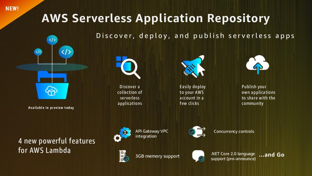 AWS Serverless Application Repository 4 new pow...