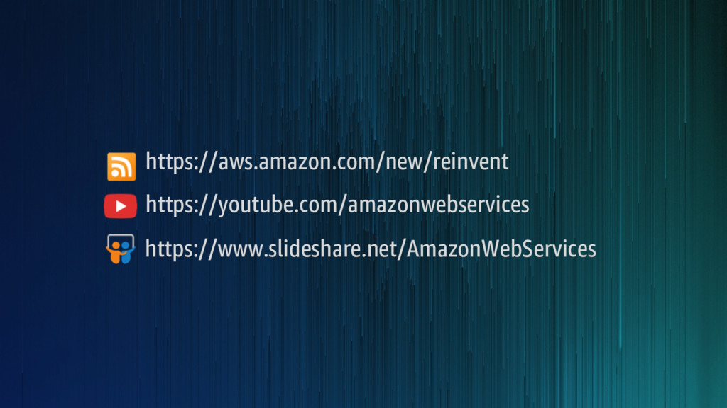 https://aws.amazon.com/new/reinvent https://you...