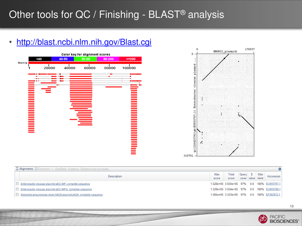 Other tools for QC / Finishing - BLAST® analysi...