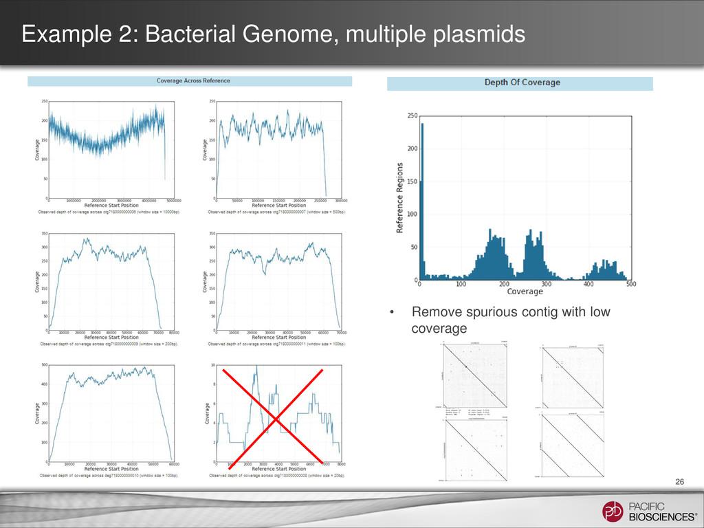 Example 2: Bacterial Genome, multiple plasmids ...