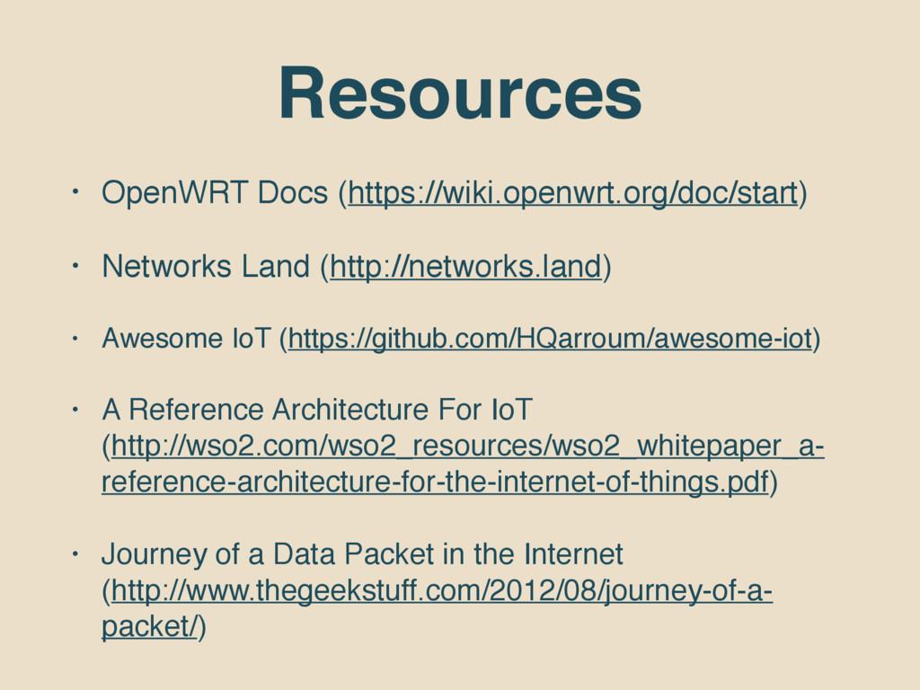 Resources • OpenWRT Docs (https://wiki.openwrt....