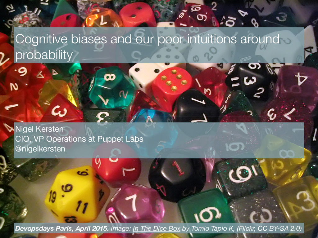 Cognitive biases and our poor intuitions around...