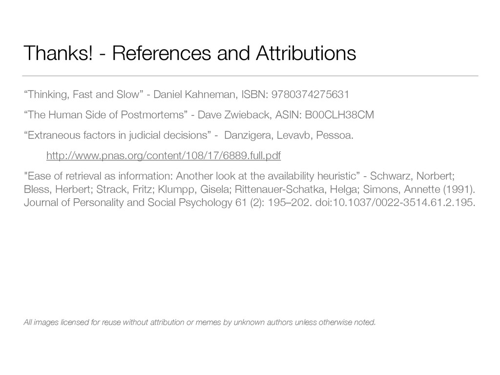 """Thanks! - References and Attributions """"Thinking..."""