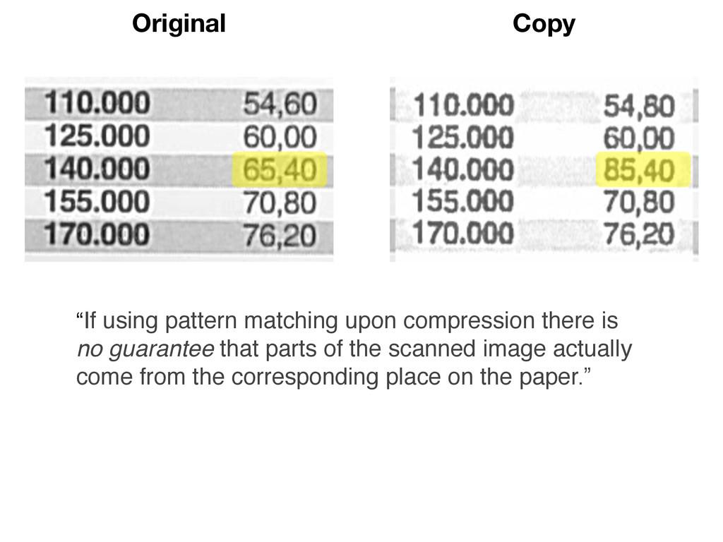 """Original Copy """"If using pattern matching upon c..."""