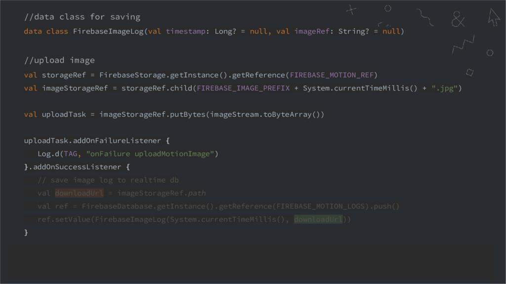 //data class for saving data class FirebaseImag...