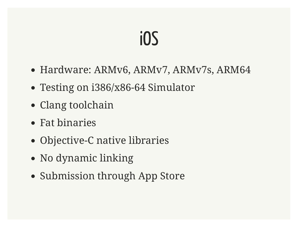 iOS Hardware: ARMv6, ARMv7, ARMv7s, ARM64 Testi...