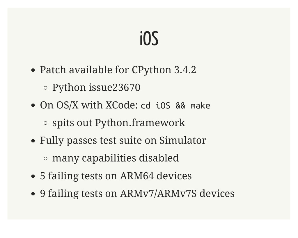 iOS Patch available for CPython 3.4.2 Python is...
