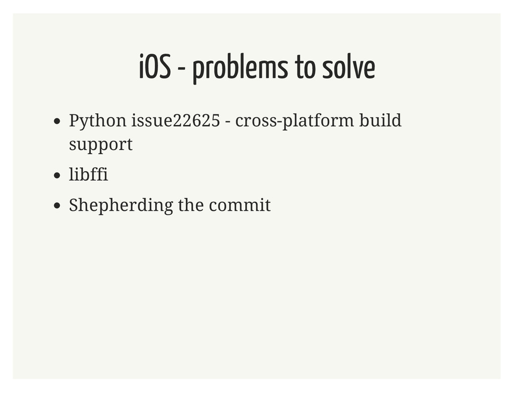 iOS - problems to solve Python issue22625 - cro...