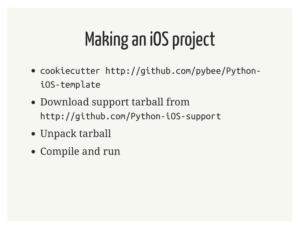 Making an iOS project cookiecutter http://githu...