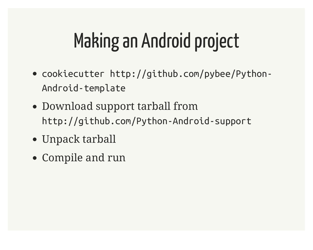 Making an Android project cookiecutter http://g...